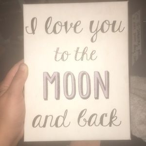 """🌙""""I love you to the moon, & back poster art 🌙💫"""